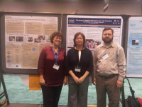 Jessie Kastler, Susan Ross and Brian McCann from COSEE-CGOM in front of their posters