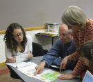Bryan works with educators at a COSEE-OS workshop