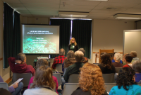 Tansy Clay engages marine volunteers in ocean research learning