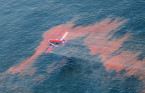 Oil spill from the air