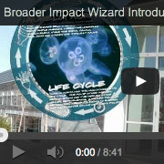 Broader impacts wizard video page