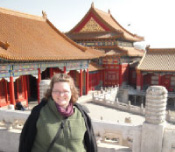 Graduate student Carrie Armbrecht in Beijing for the 2010 COSEE China planning workshop