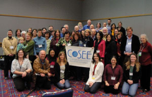 Group shot of COSEE representatives at the Network meeting