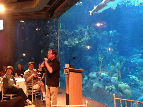 Evening speaker at the aquarium