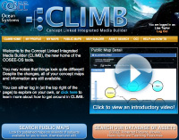 Screenshot of the CLIMB homepage