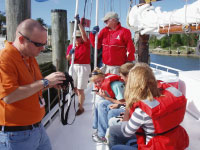 STEM students learn about ocean movement aboard the skipjack Nathan of Dorchester