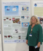 Marine Educator Marilyn Sigman with poster