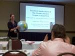 COSEE California's Emily Weiss presenting at the CSTA Conference