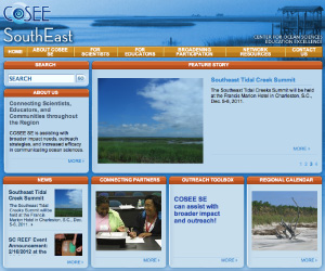 Image of the COSEE SouthEast home page