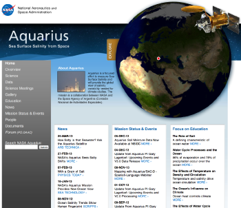 Aquarius website