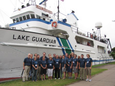 COSEE GL participants at the end of their shipboard research workshop, July 2011