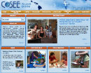 Screenshot of the COSEE Island Earth home page
