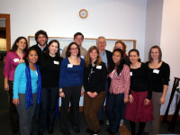 Dr. Bruce Alberts, UW graduate students, and members of the UW student organization SACNAS
