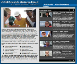 Screenshot of the case studies home page