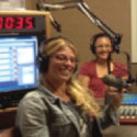 Carly Wiener on her radio show